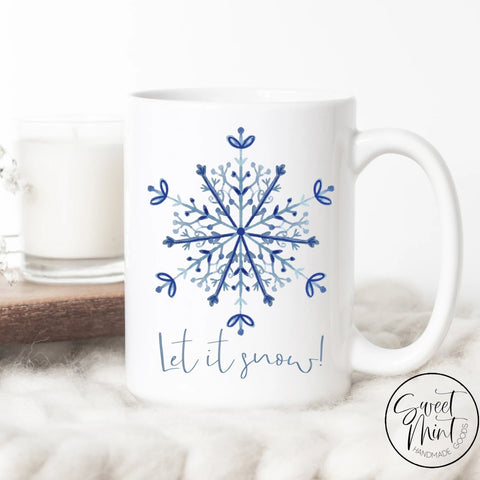 Let It Snow Snowflake Christmas Mug