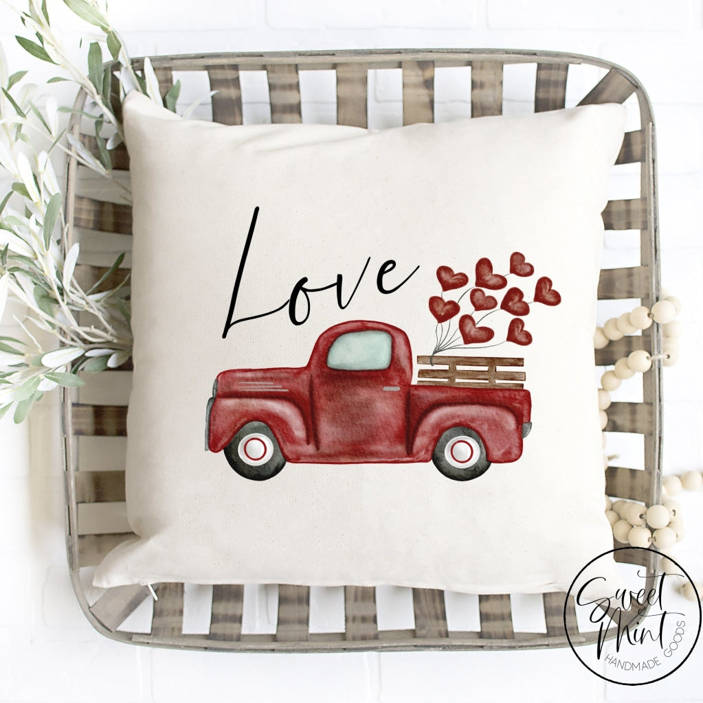 Love Truck Pillow Cover - 16X16 Pillow Cover