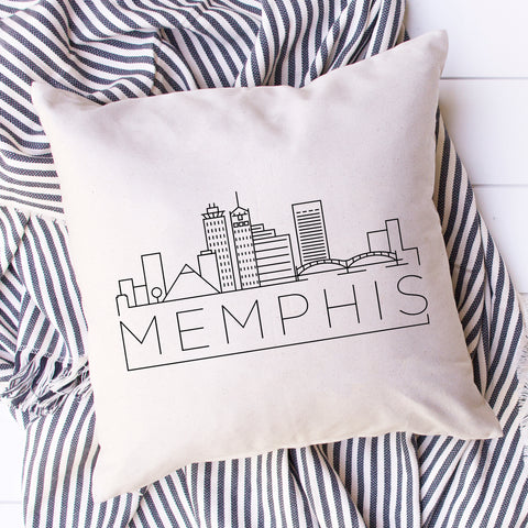 Memphis Skyline Pillow Cover