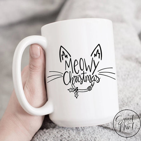 Meowy Christmas Mug - Cat