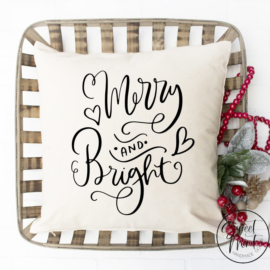 Merry And Bright Pillow Cover - 16 X