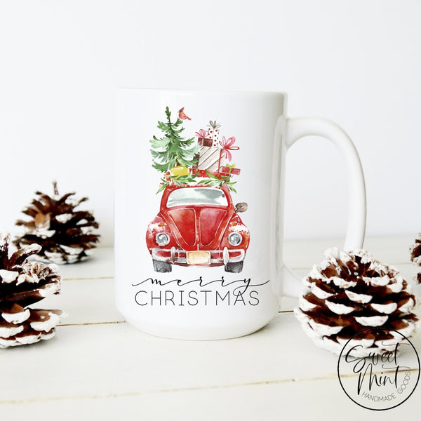 Merry Christmas Beetle Mug