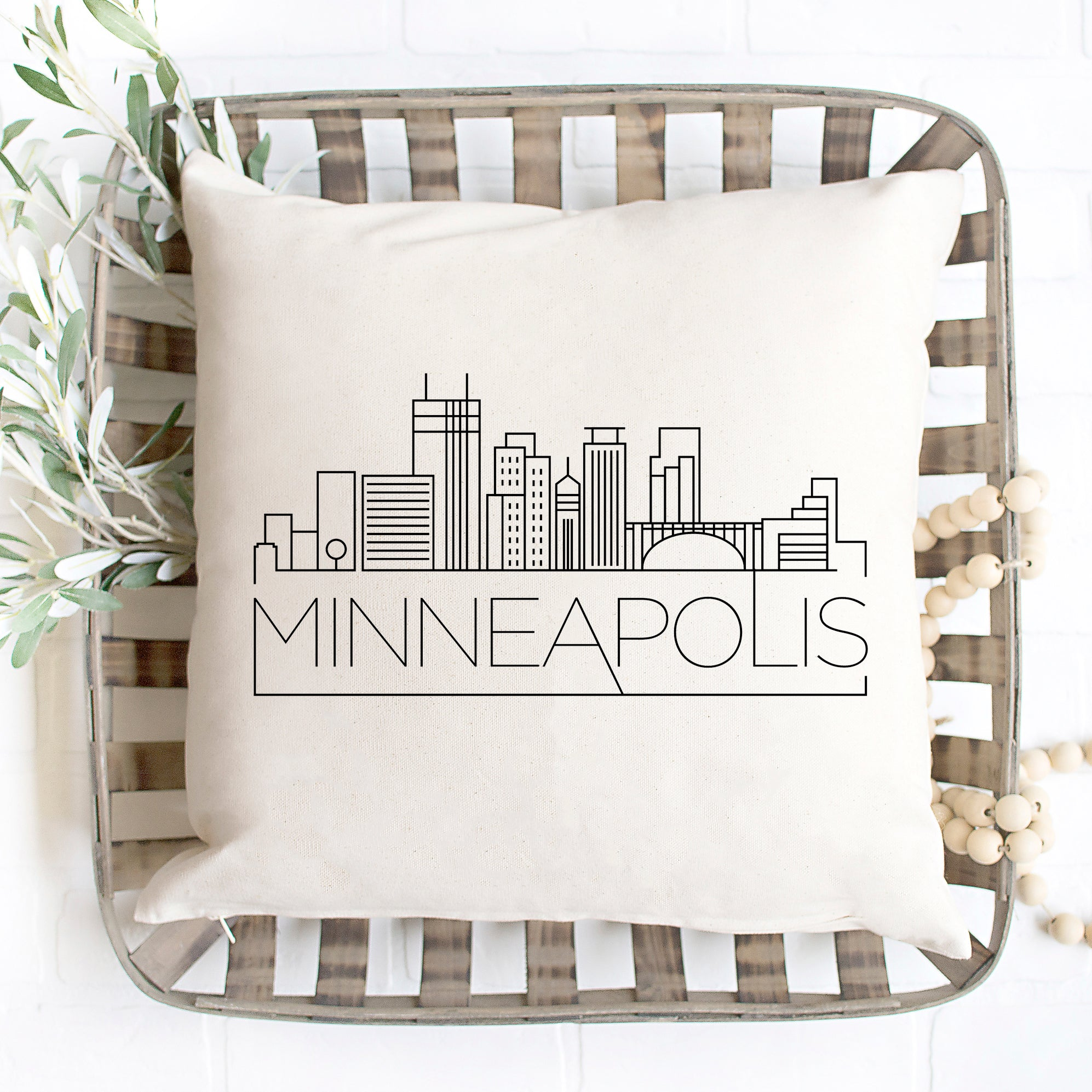 Minneapolis Skyline Pillow Cover