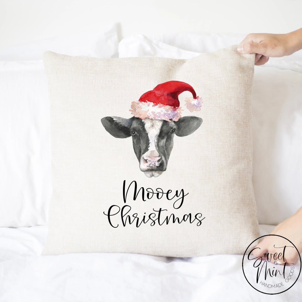 Mooey Christmas Cow Pillow Cover - 16 X