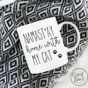 Namastay Home With My Cat Mug