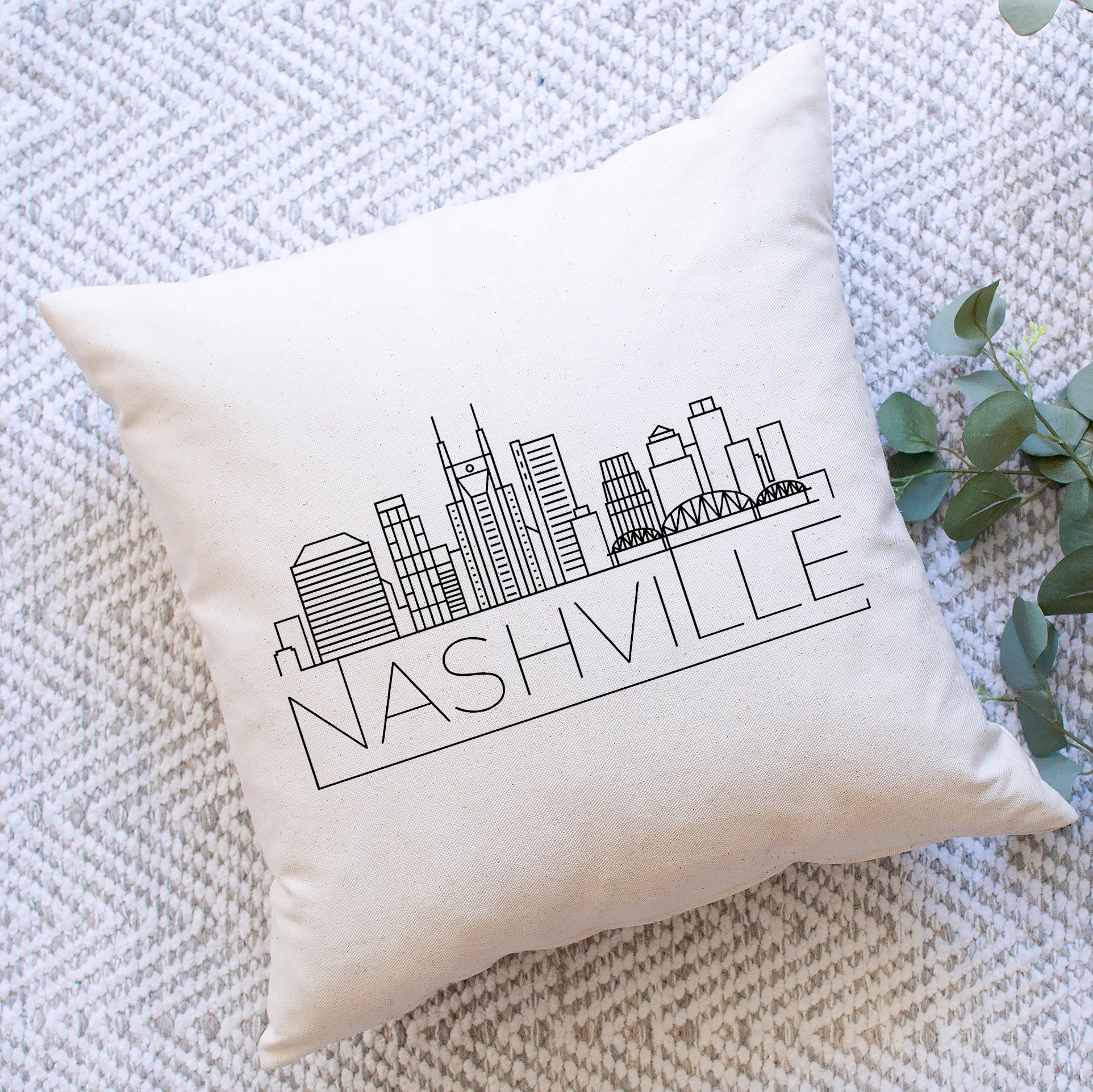 Nashville Skyline Pillow Cover