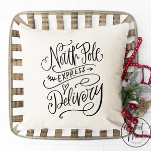 North Pole Express Delivery Pillow Cover - 16 X