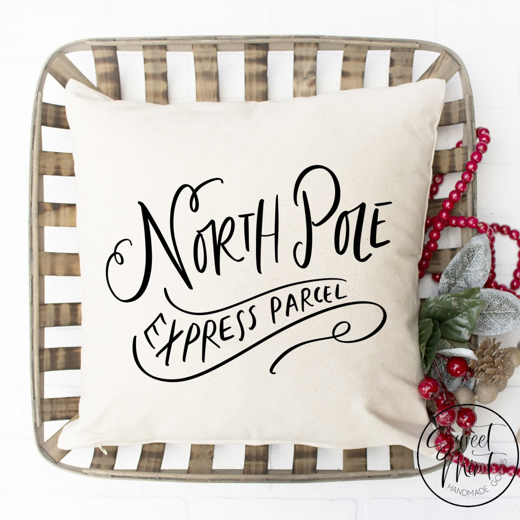 North Pole Express Parcel Pillow Cover - 16 X