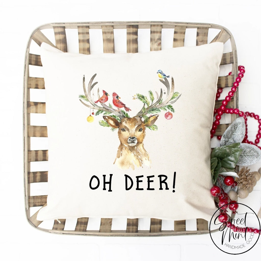 Oh Deer Reindeer Pillow Cover - 16 X