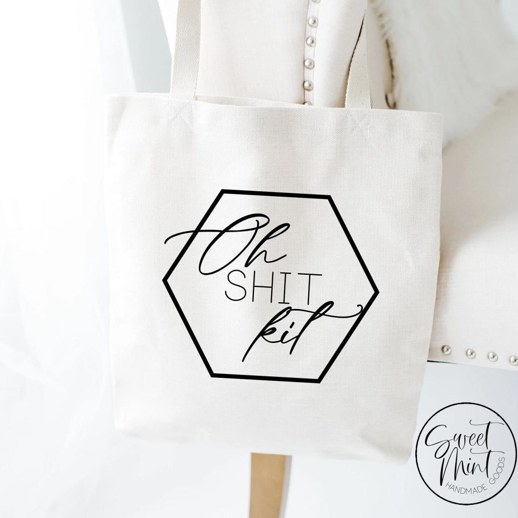 Oh Shit Kit Funny Bachelorette Tote Bag