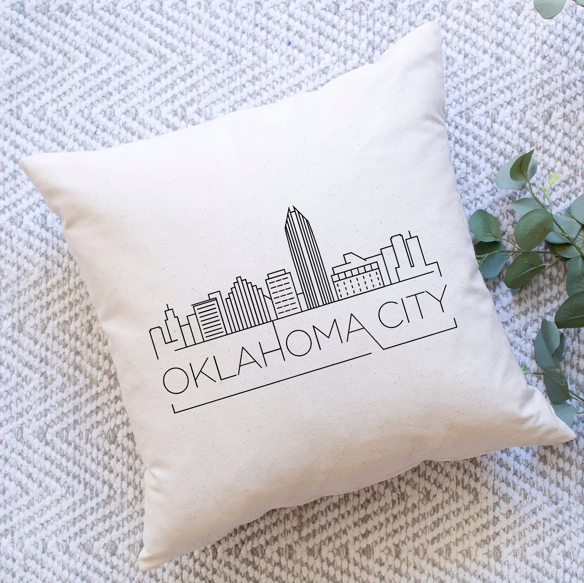 Oklahoma City Skyline Pillow Cover