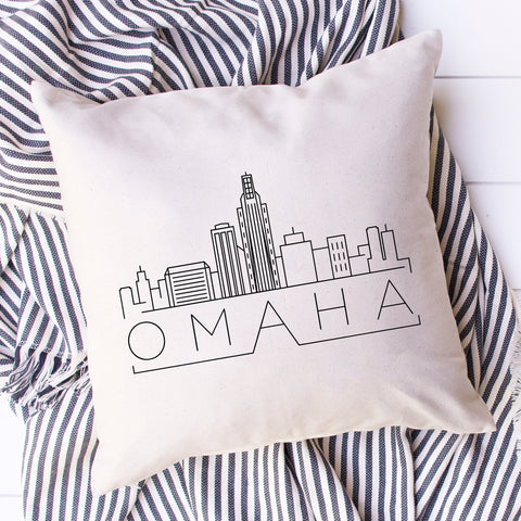 Omaha Skyline Pillow Cover