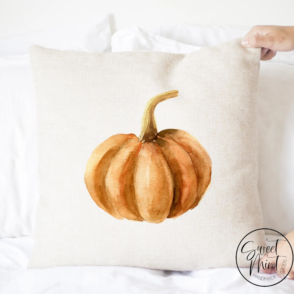 Orange Pumpkin Pillow Cover - Fall / Autumn 16X16