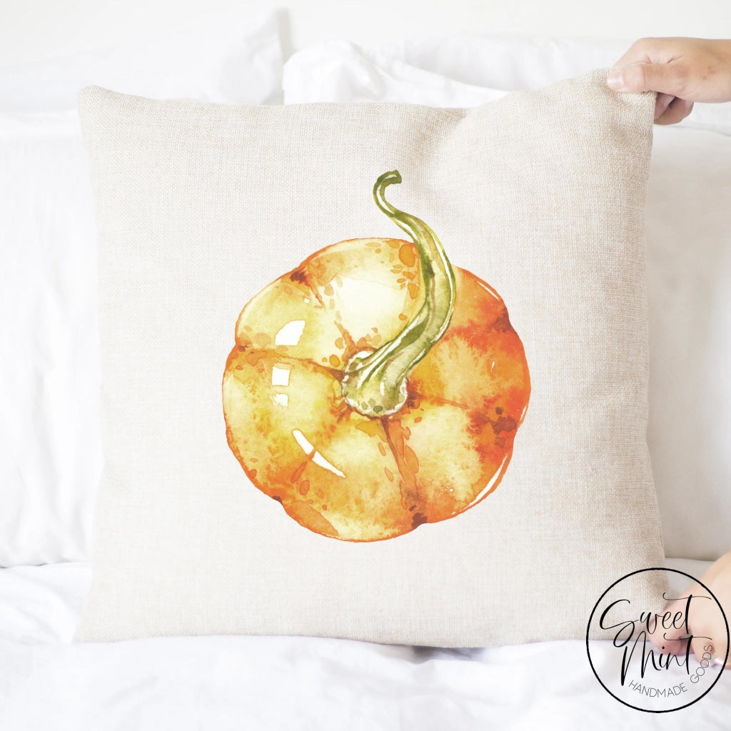 Orange Pumpkin View From Top Pillow Cover - Fall / Autumn 16X16