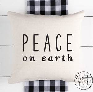 Peace On Earth Pillow Cover - 16 X