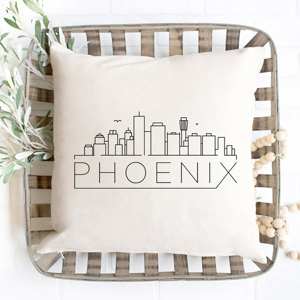 Phoenix Skyline Pillow Cover