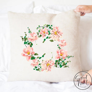 Pink Flower Pillow Cover - 16X16