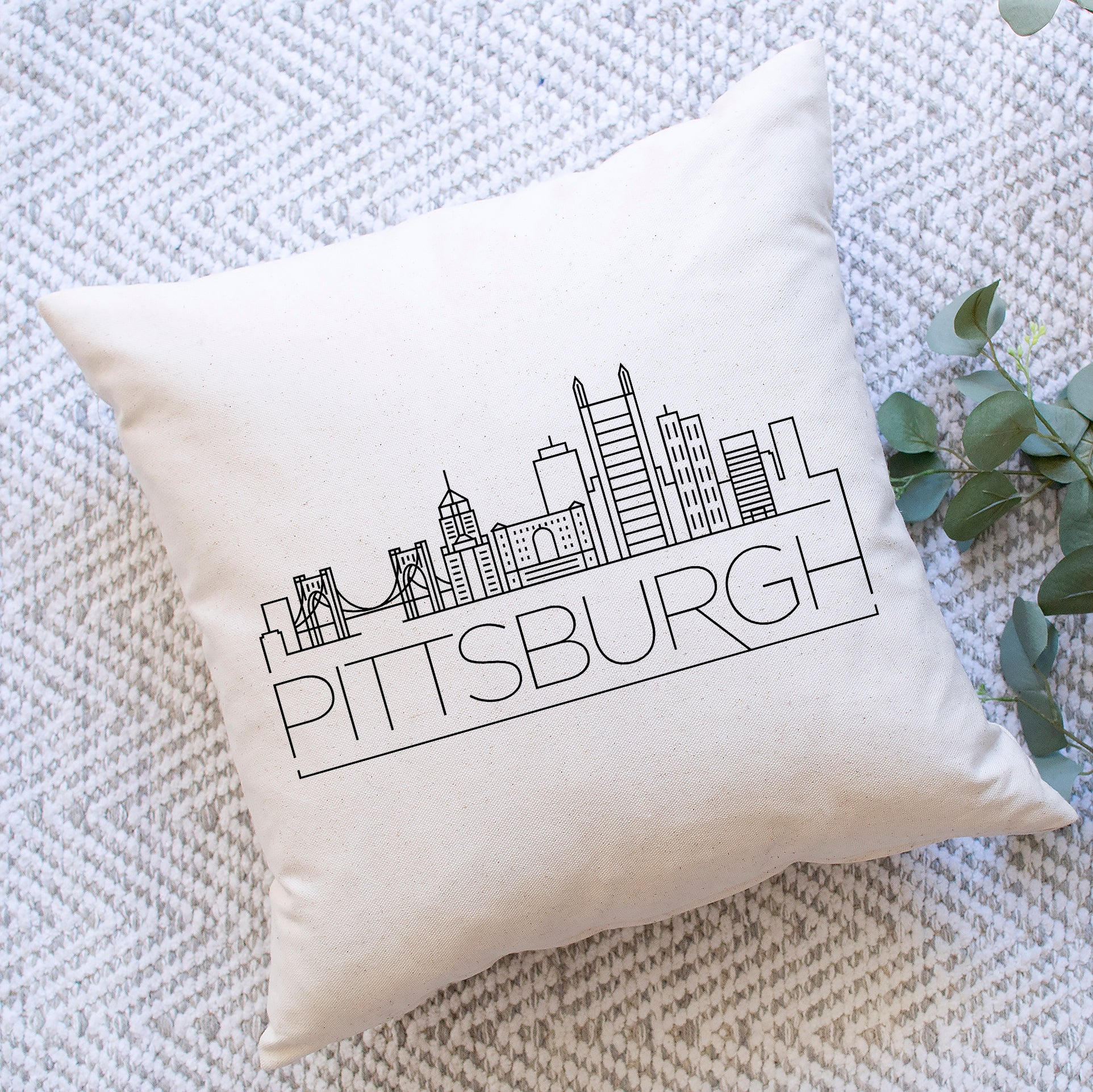 Pittsburgh Skyline Pillow Cover