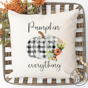 Pumpkin Everything Pillow Cover - 16 X
