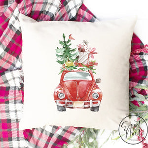 Red Beetle From Front Pillow Cover - 16 X