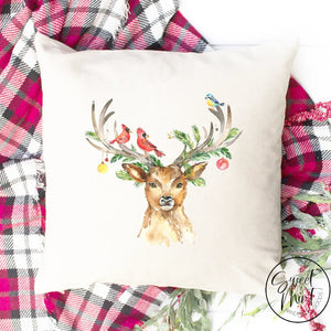 Reindeer Pillow Cover - 16 X