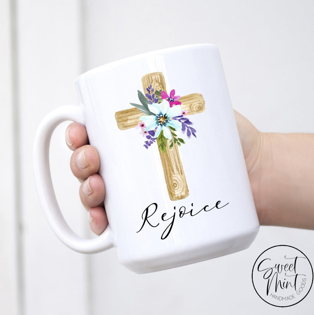 Rejoice Cross Mug