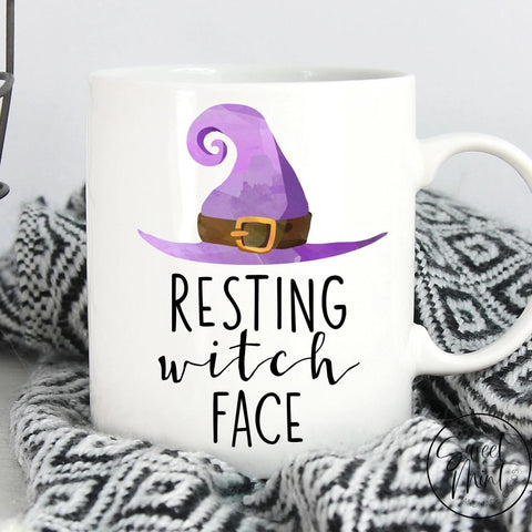 Resting Witch Face Mug Halloween / Fall Autumn