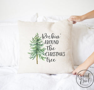 Rockin Around The Christmas Tree Pillow Cover - 16 X