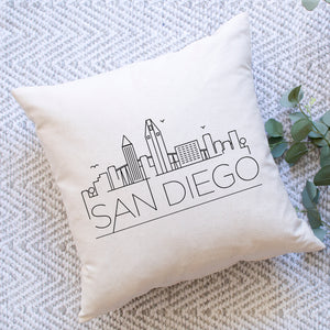 San Diego Skyline Pillow Cover
