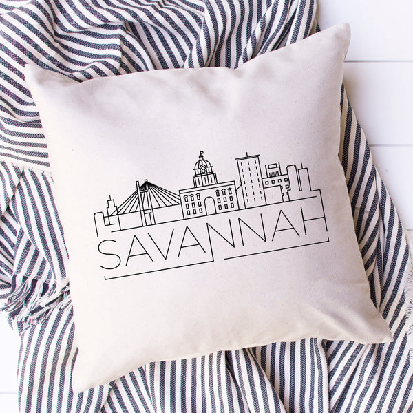 Savannah Skyline Pillow Cover