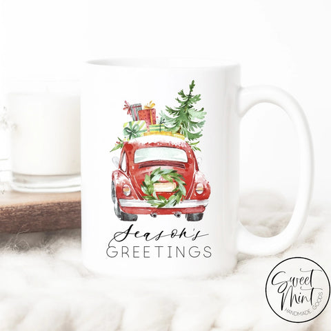 Seasons Greetings Beetle Mug