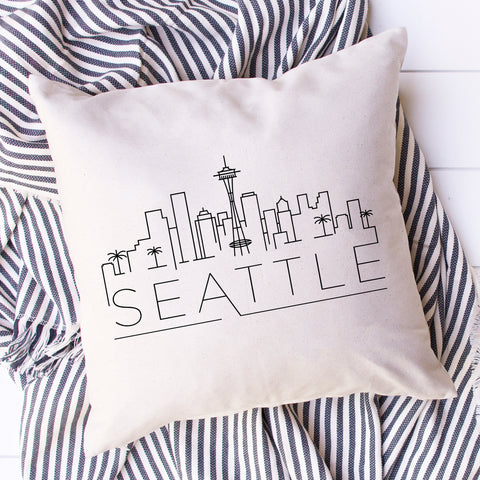 Seattle Skyline Pillow Cover