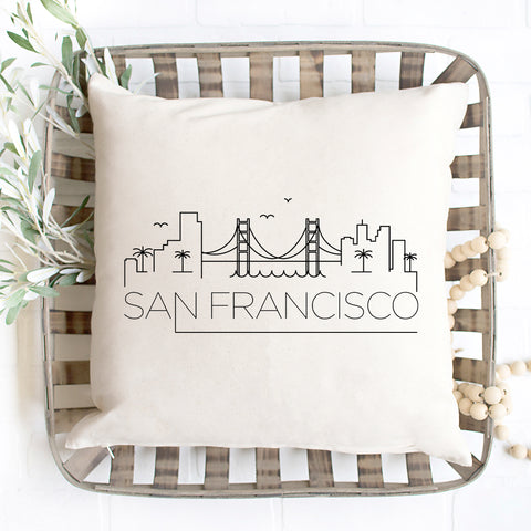 San Francisco Skyline Pillow Cover