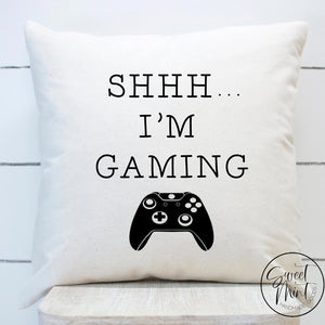 Shhh Im Gaming Pillow Cover - 16X16