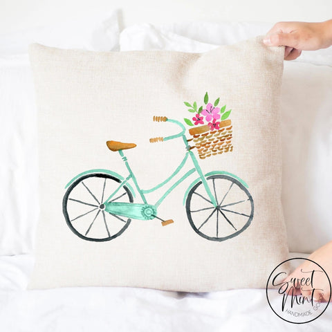Spring Bike Pillow Cover - 16X16