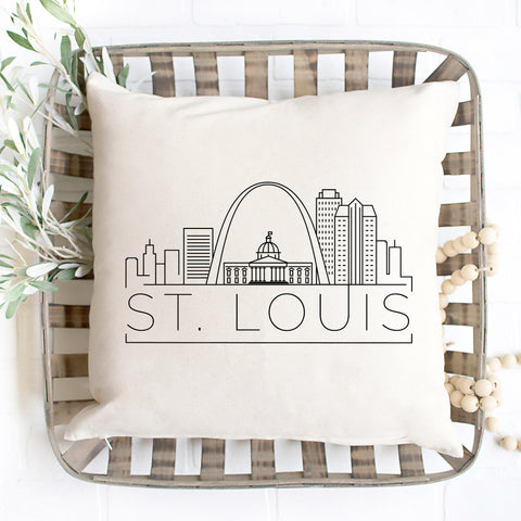 St. Louis Skyline Pillow Cover - Alternate