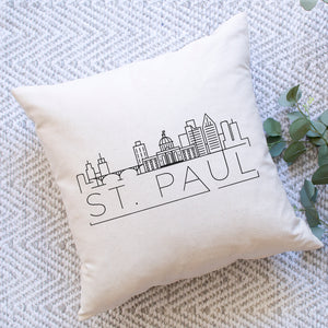 St. Paul Skyline Pillow Cover