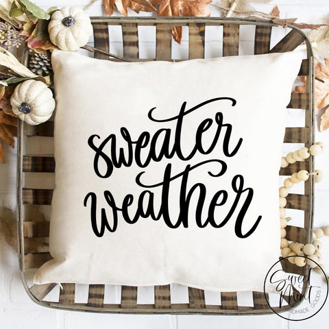 Sweater Weather Pillow Cover - Fall / Autumn 16X16