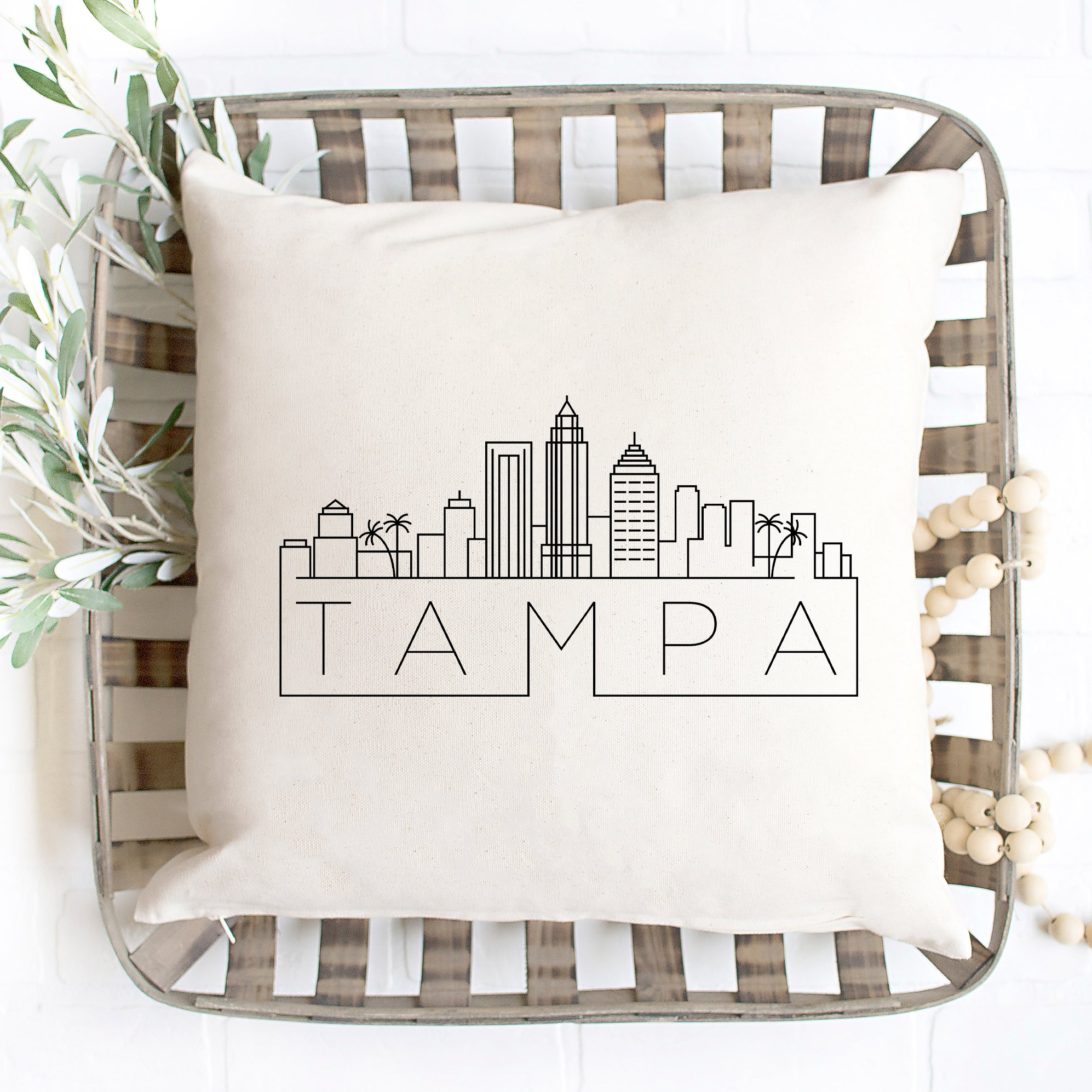 Tampa Skyline Pillow Cover