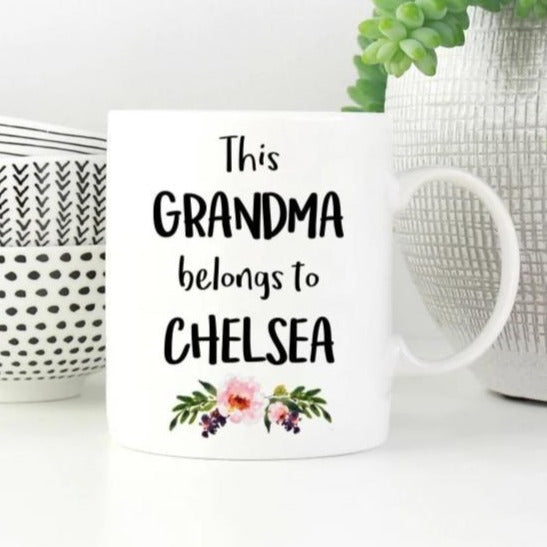 This Grandma Belongs To (Custom Name) Mug