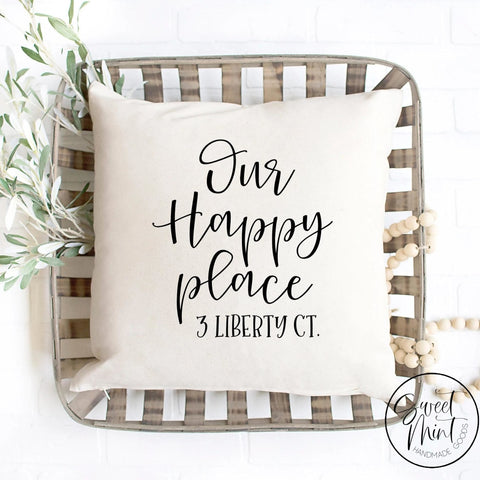 This Is Our Happy Place Pillow Cover - 16X16