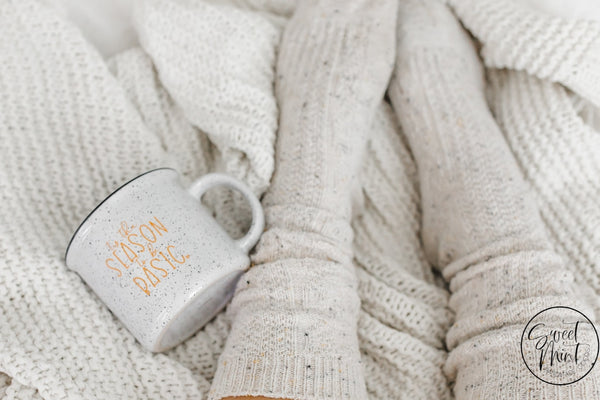 Tis The Season To Be Basic Campfire Mug - White / Orange