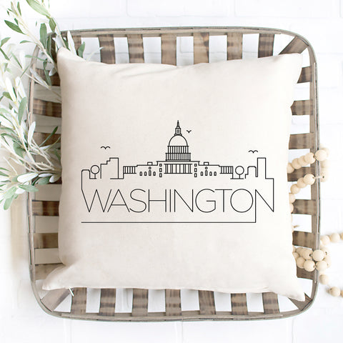 Washington D.C. Skyline Pillow Cover