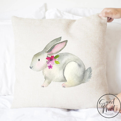 Watercolor Rabbit Pillow Cover Bunny / Easter - 16X16