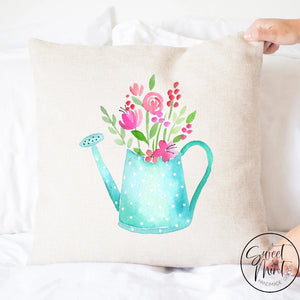 Watering Can Pillow Cover Spring - 16X16