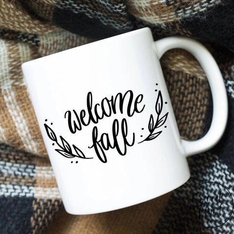Welcome Fall Mug Autumn