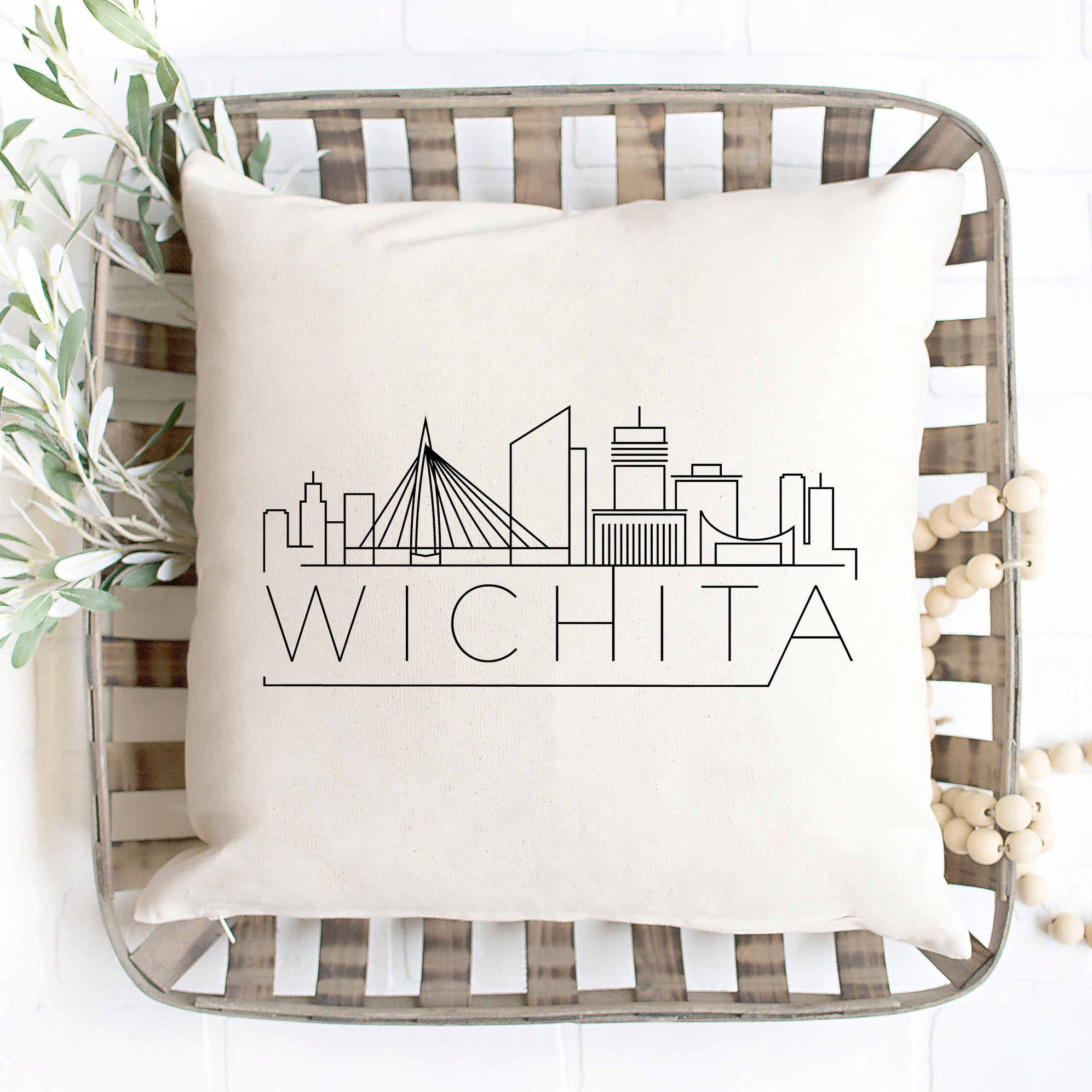 Wichita Skyline Pillow Cover