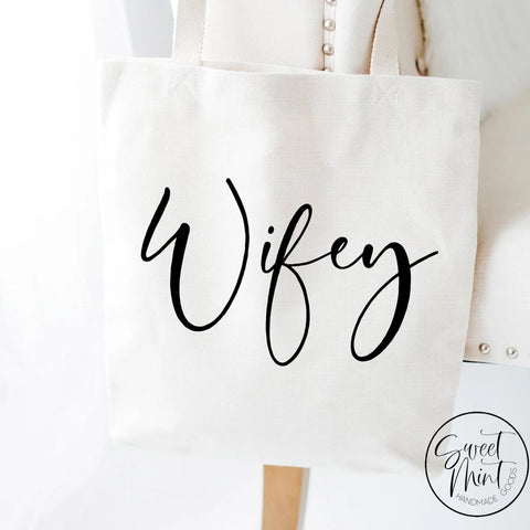 Wifey Tote Bag - Honeymoon / Wedding