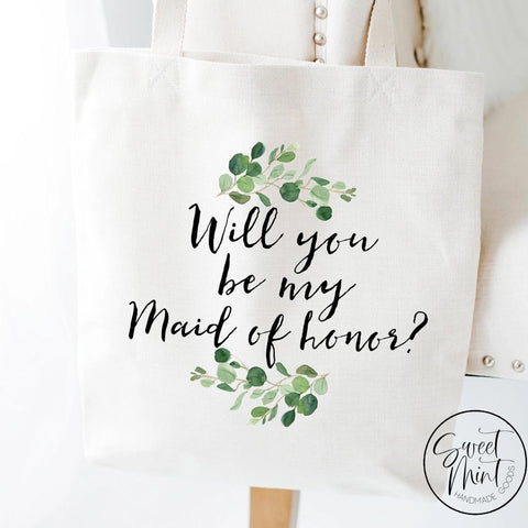 Will You Be My Maid Of Honor Tote Bag