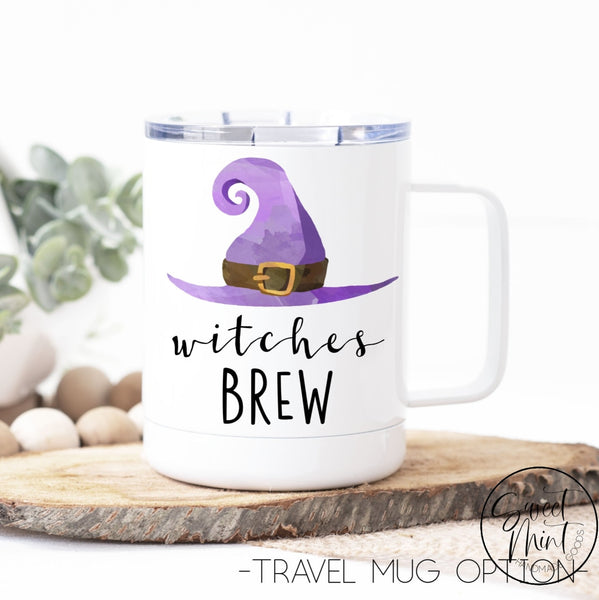 Witches Brew Mug - Halloween / Witch Fall Autumn